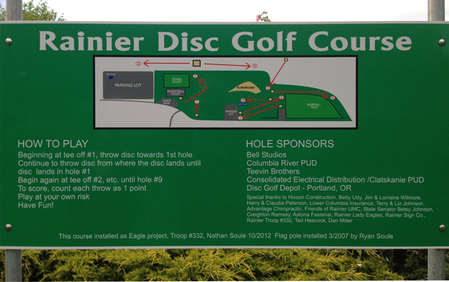 Rainier City Park Disc Golf